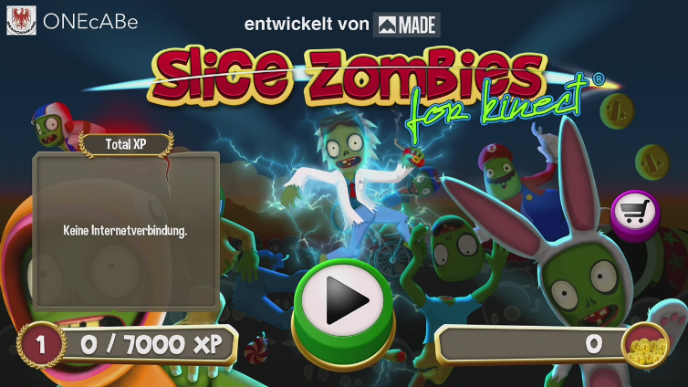 Slice Zombies for Kinect