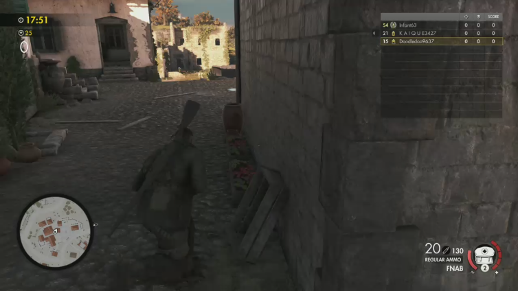 Doodledoo playing Sniper Elite 4